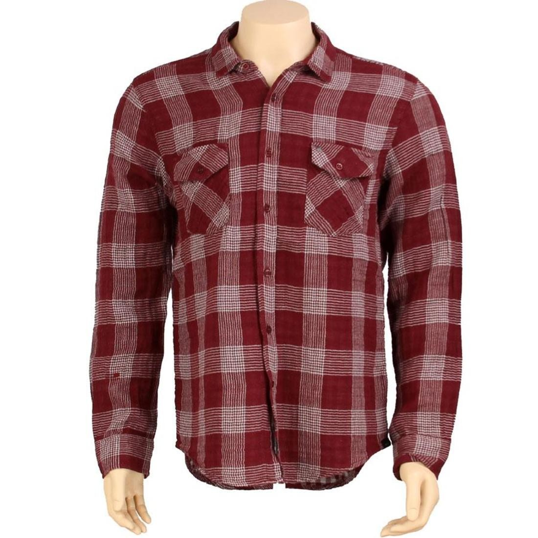 KR3W Hardee Long Sleeve Shirt (burgundy)