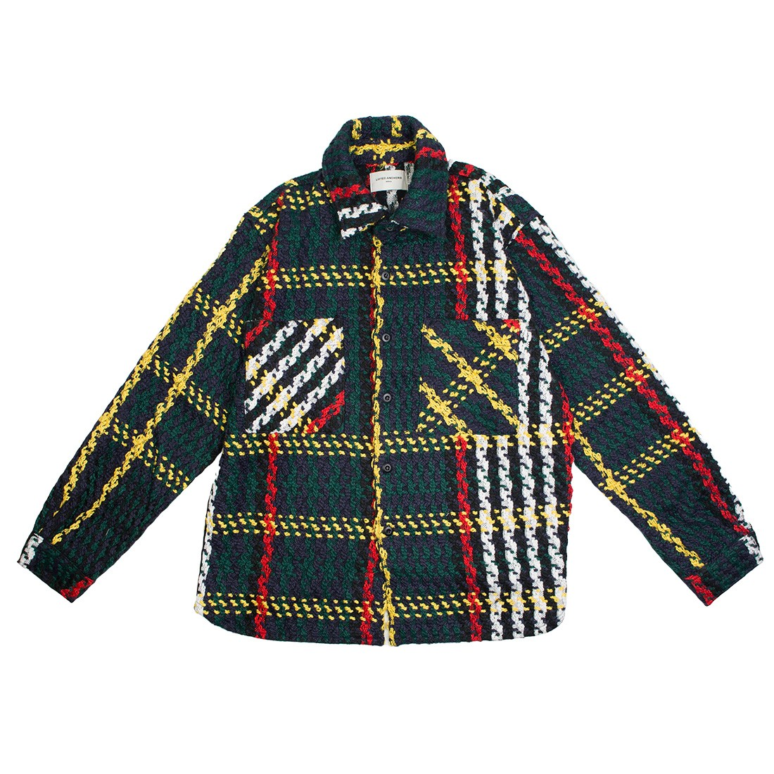 Lifted Anchors Men Interlaced Flannel Jacket (multi)