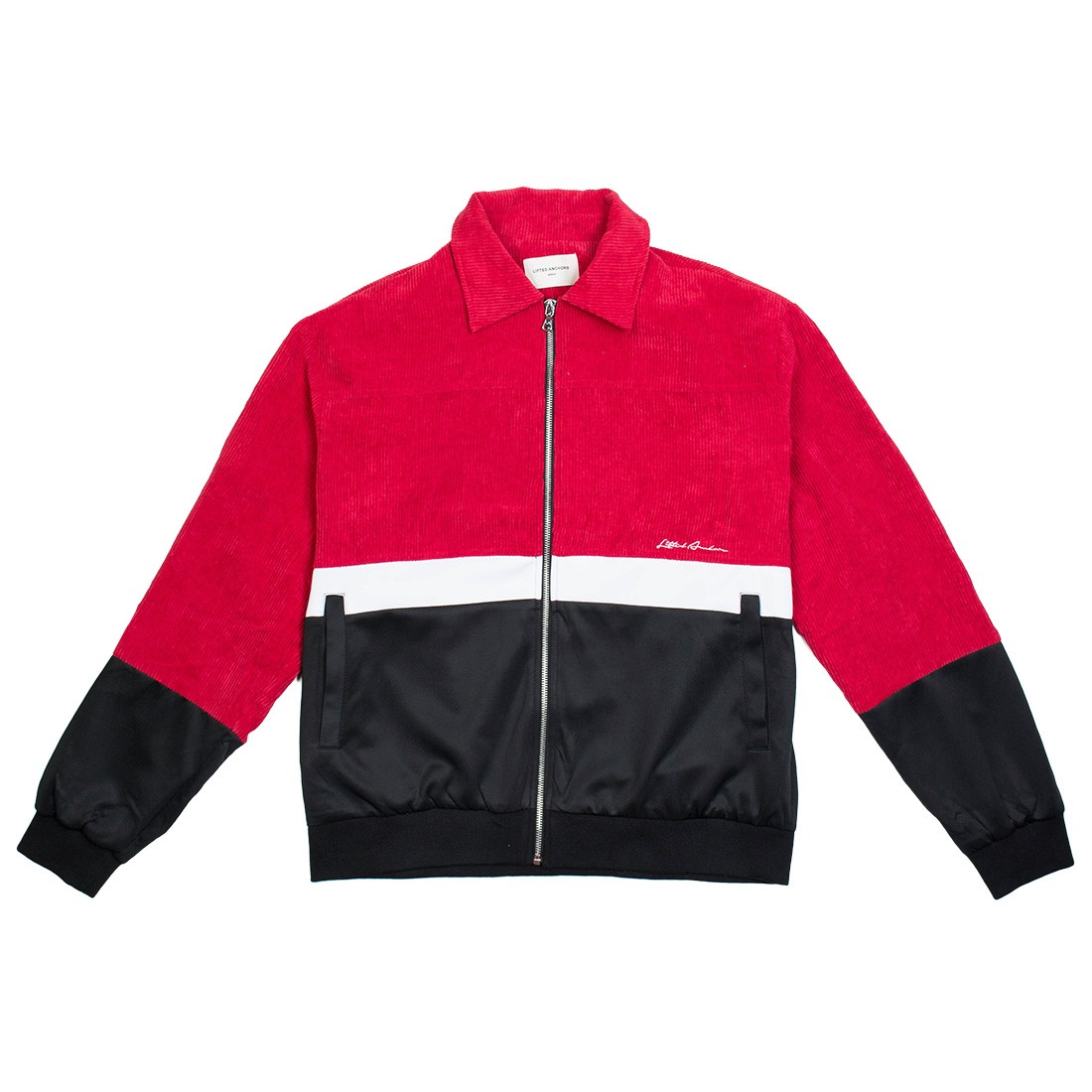 Lifted Anchors Men Link Corduroy Track jacket (red / black)
