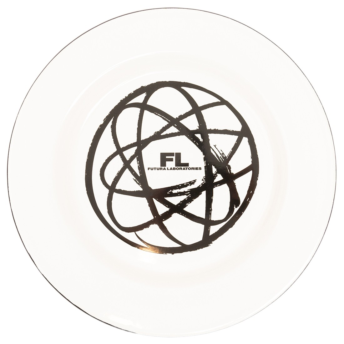 Futura Laboratories Atom Enamel Coated Metal Plate (white)