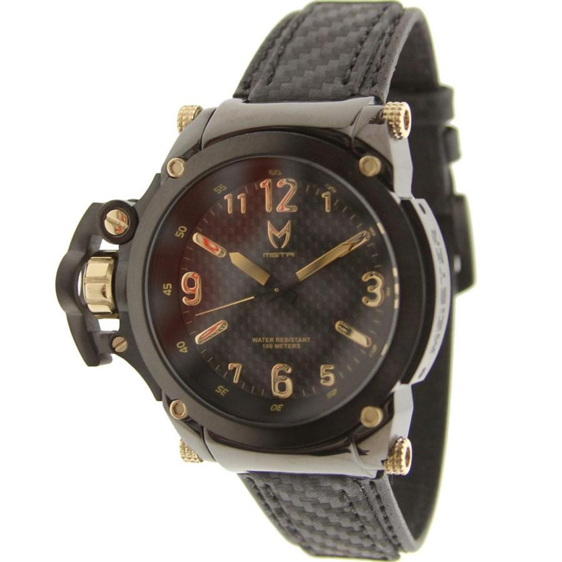 Meister Commander Watch With Carbon Fiber Band (champagne gold)