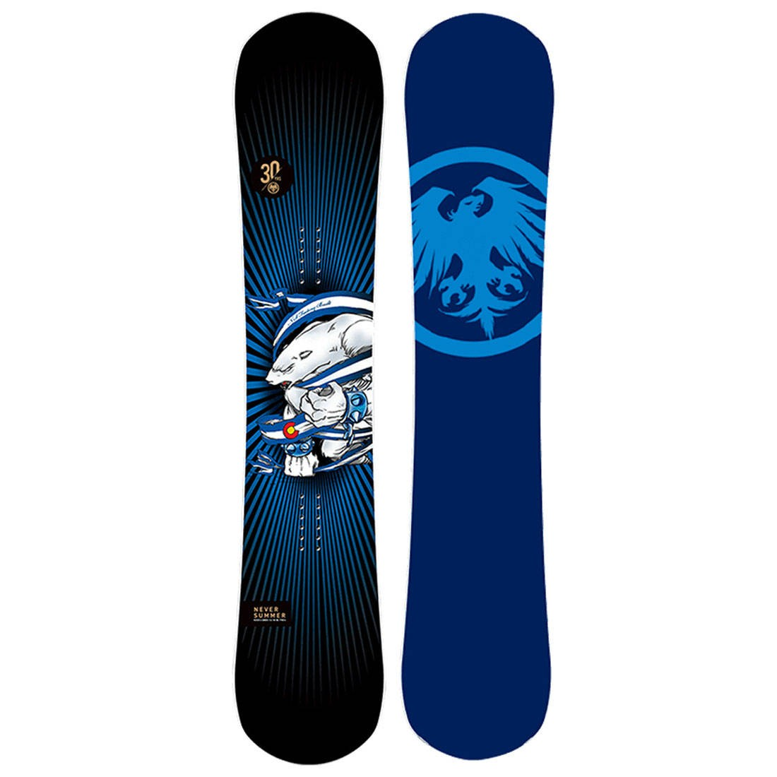 Never Summer 2021 Proto Synthesis 30th Anniversary Limited Edition Snowboard (multi)