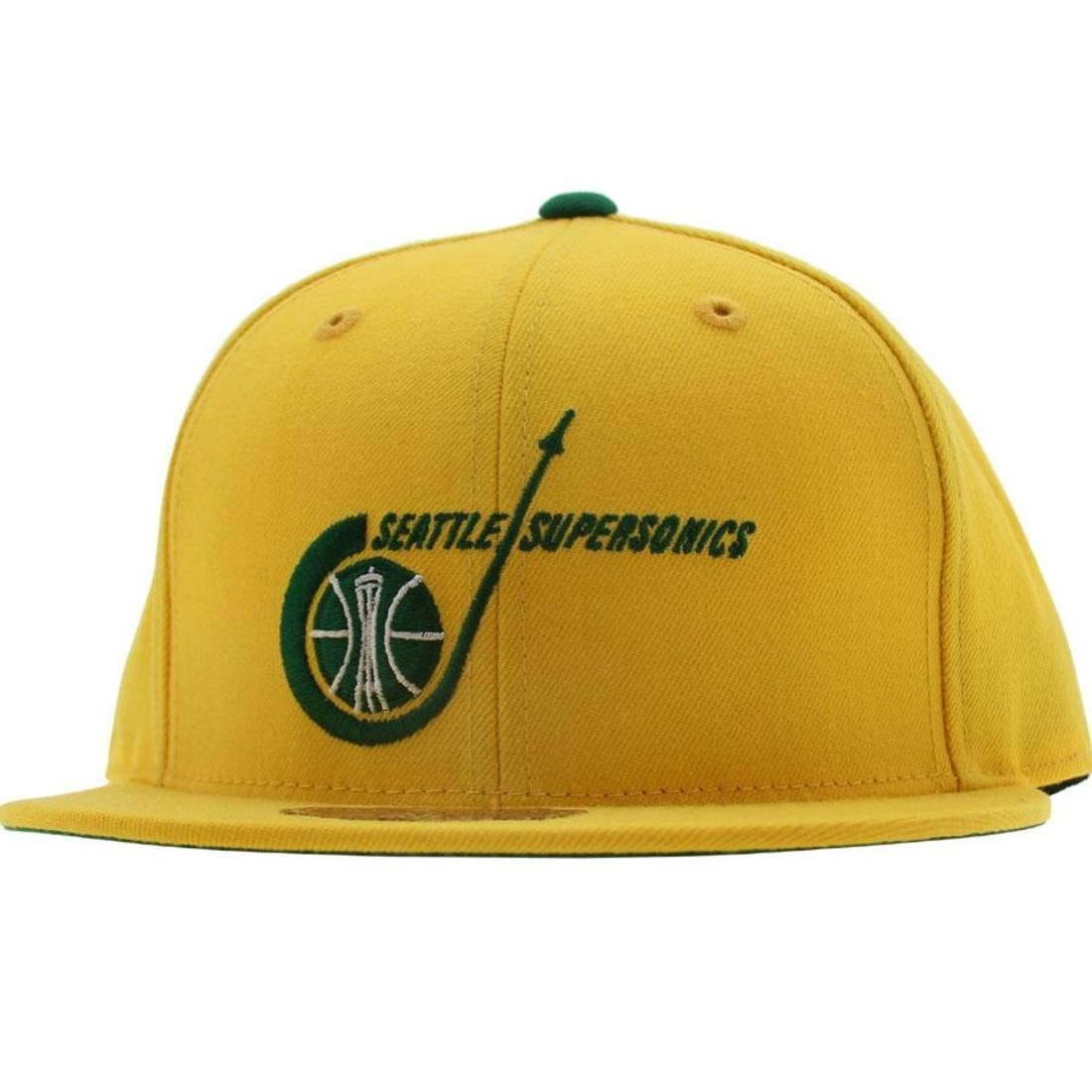 Mitchell And Ness Seattle Supersonics Alternate Fitted Cap (yellow)