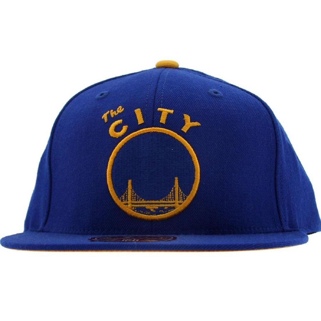 Mitchell And Ness San Francisco Warriors Alternate Fitted Cap (blue)