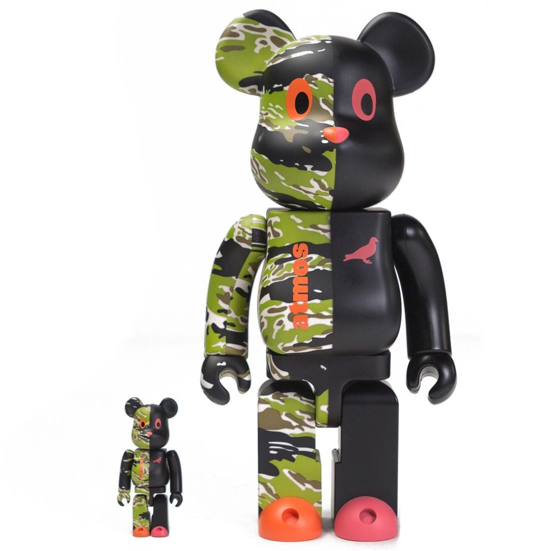 Medicom x Atmos x Staple 100% 400% V2 Bearbrick Figure Set (black)