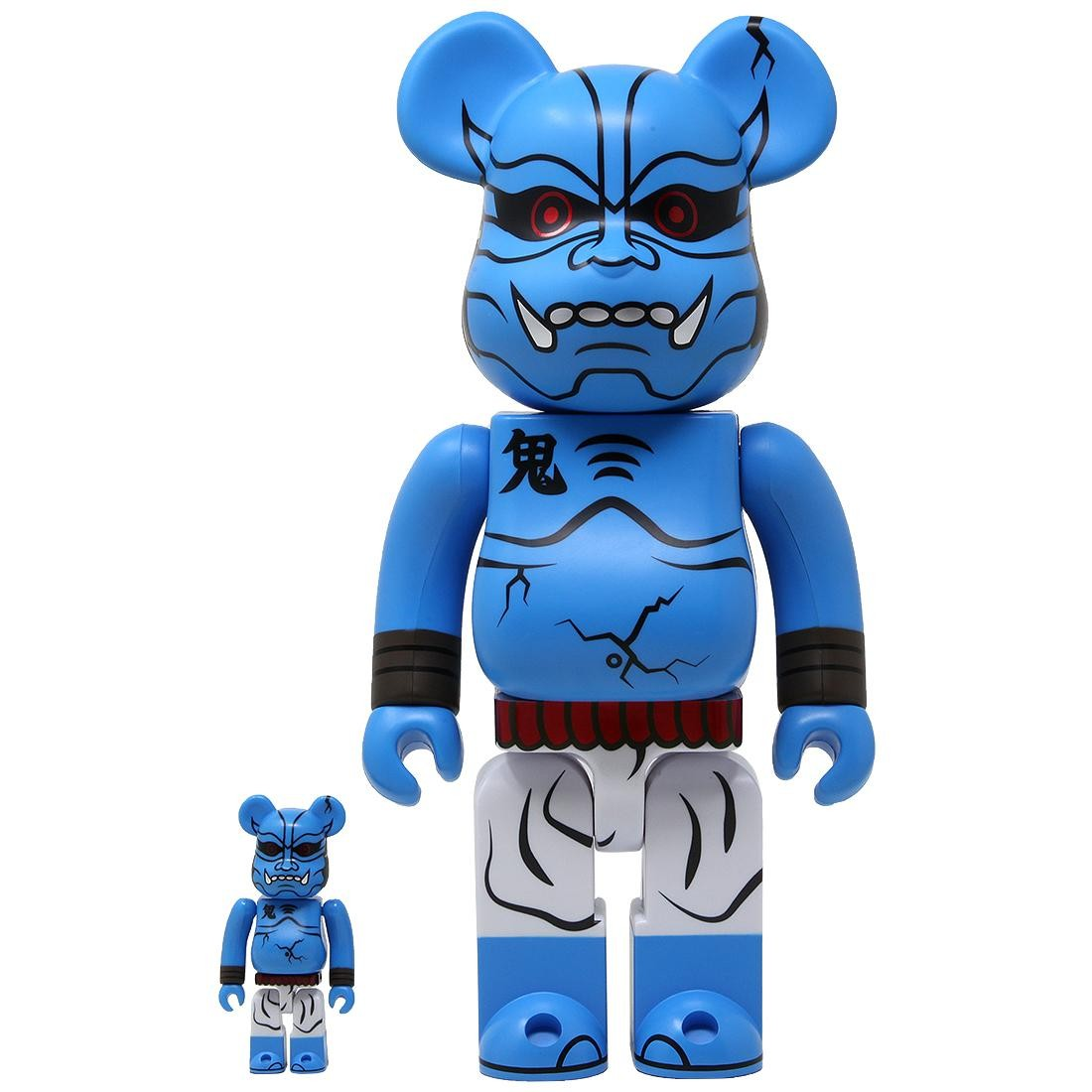 Medicom Aooni Shinobu 100% 400% Bearbrick Figure (blue)