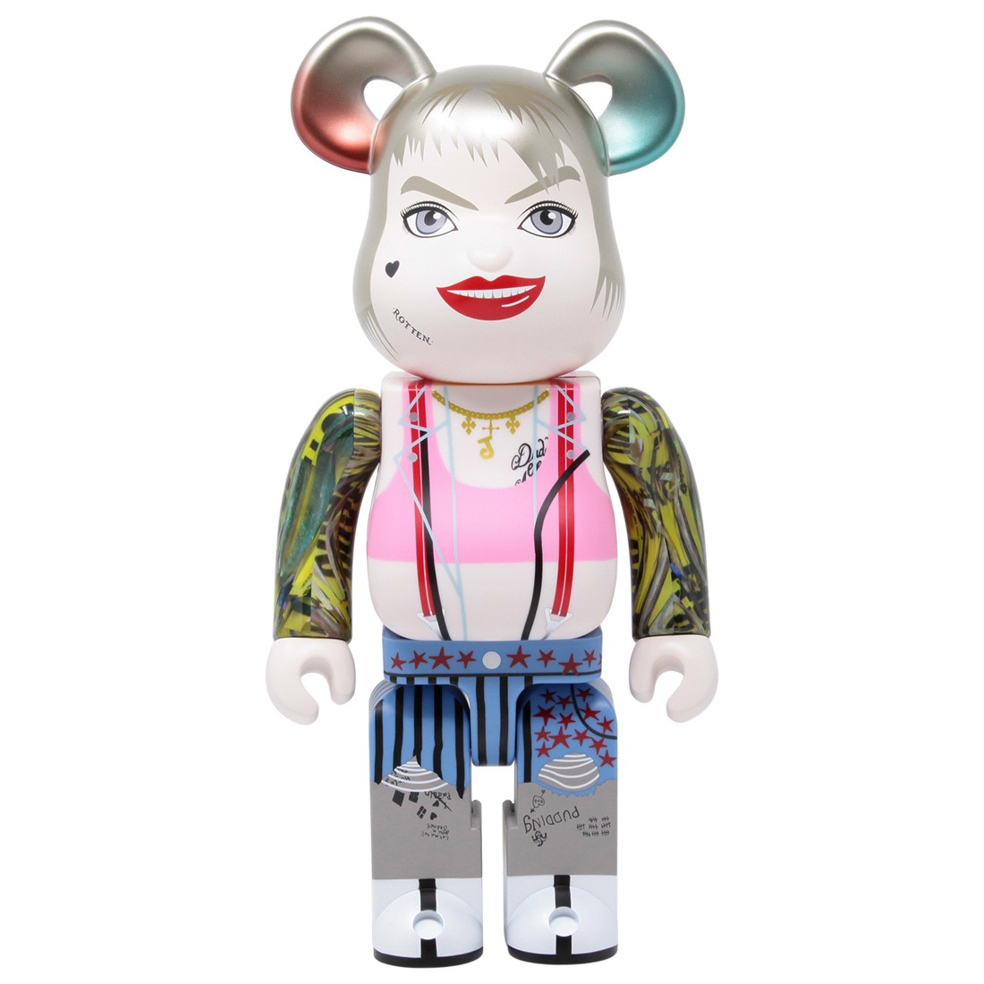 Medicom Birds Of Prey Harley Quinn 400% Bearbrick Figure (white)