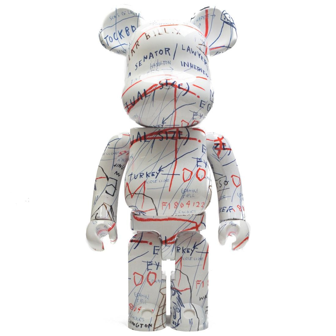 Medicom Jean-Michel Basquiat #2 1000% Bearbrick Figure (white / red)