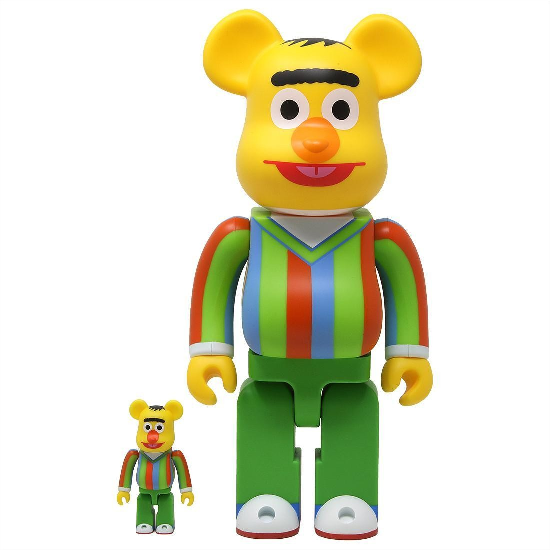 Medicom Sesame Street Bert 100% 400% Bearbrick Figure Set (yellow)