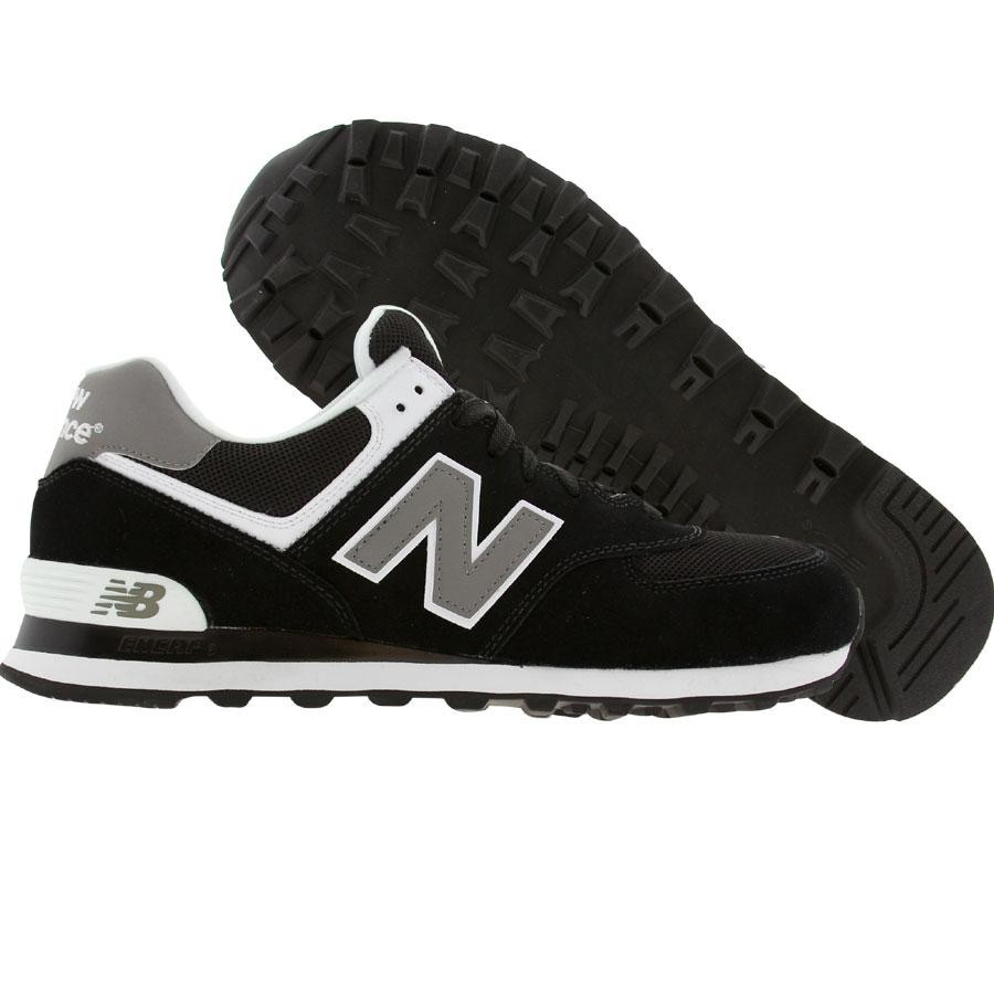 purchase cheap fde8e c9a5d New Balance Men 574 M574SKW (black / grey / white)