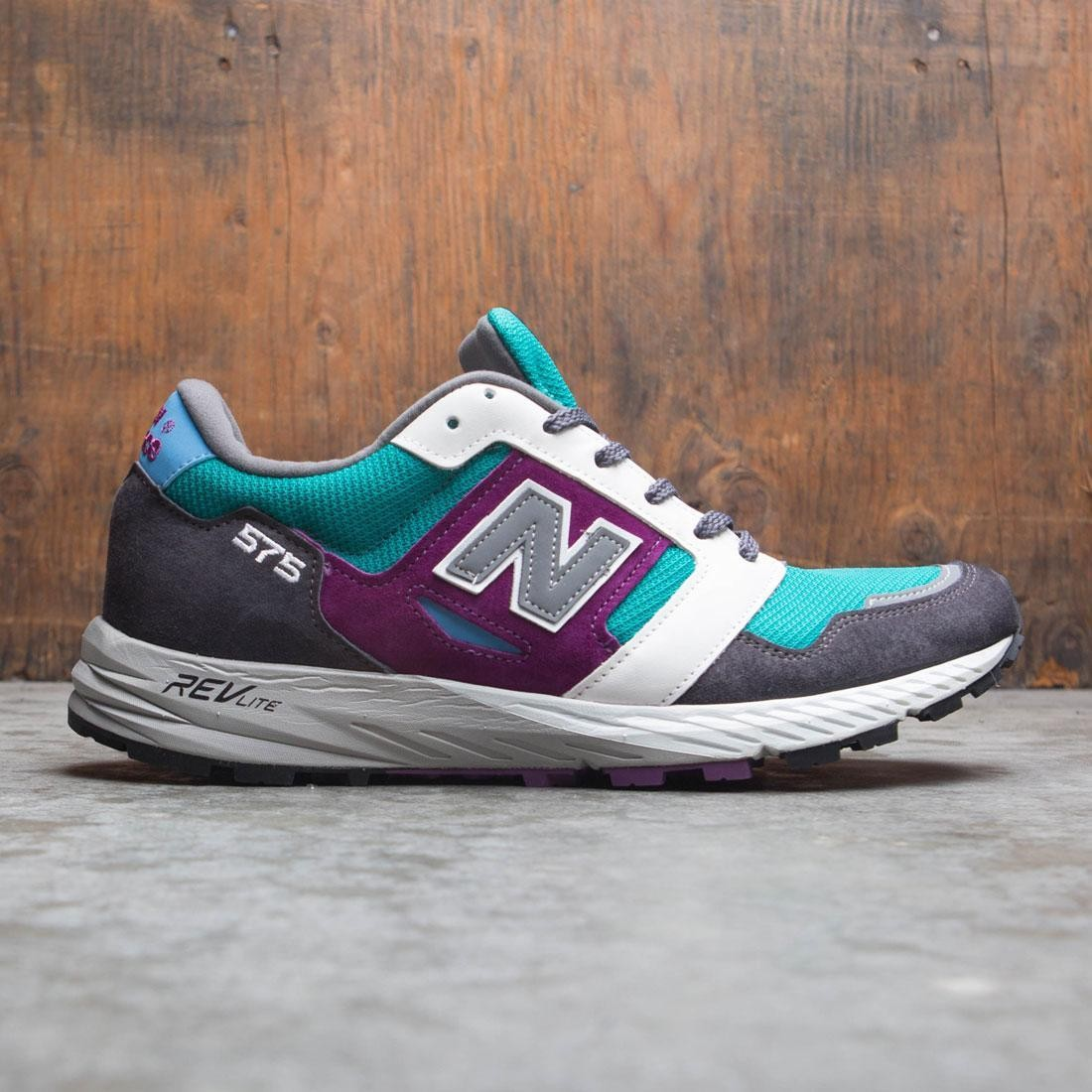 New Balance Men 575 Mountain Wild MTL575GP - Made In UK (gray/ dark grey / geen / purple)
