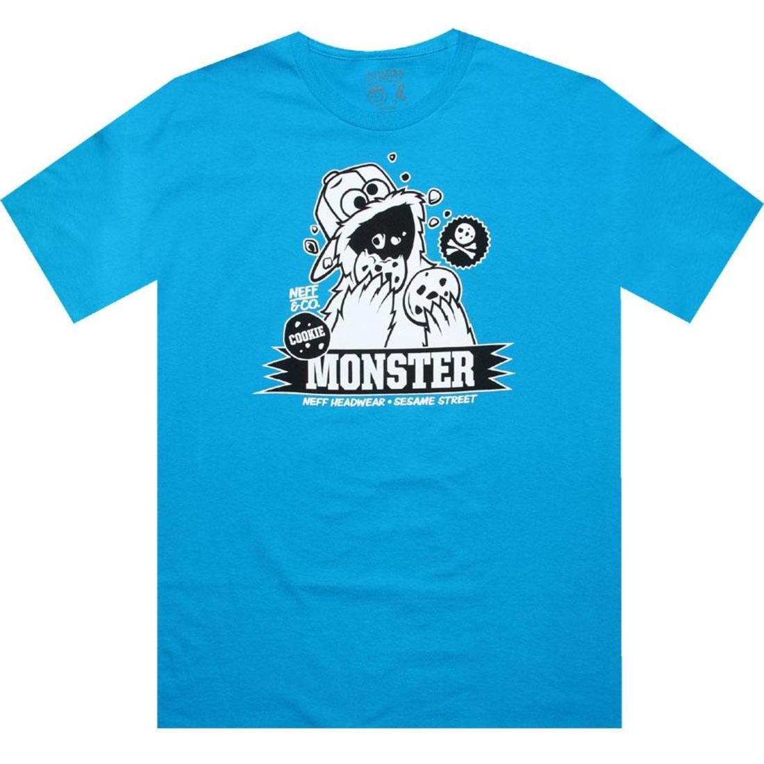 Neff x Sesame Street Cookie Monster Tee (turquoise)
