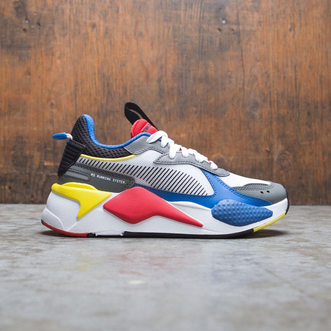 Puma Big Kids RS-X Toys Jr (white / blue / high risk red)