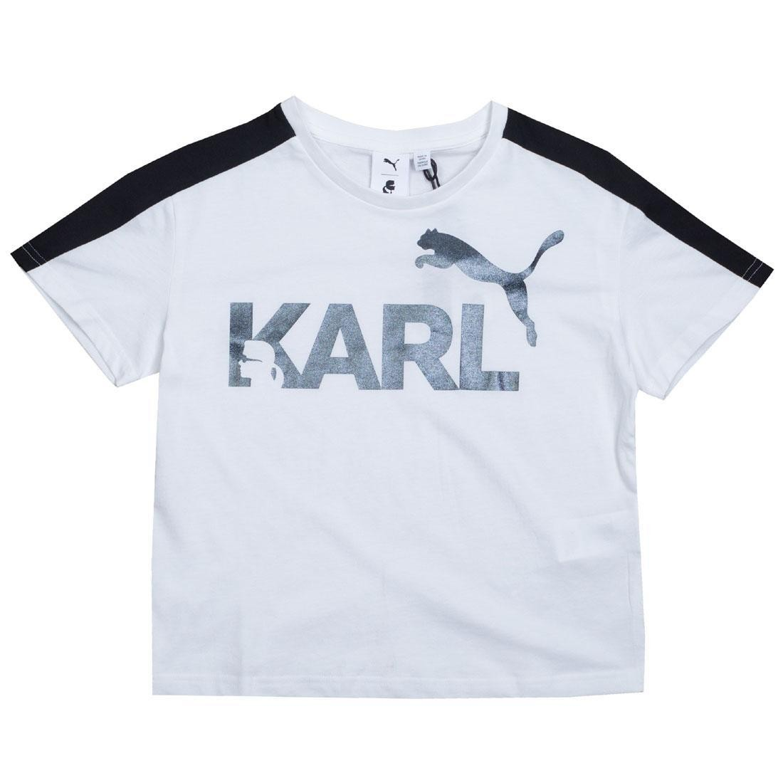 Puma x Karl Lagerfeld Women Karl Tee (white / black)