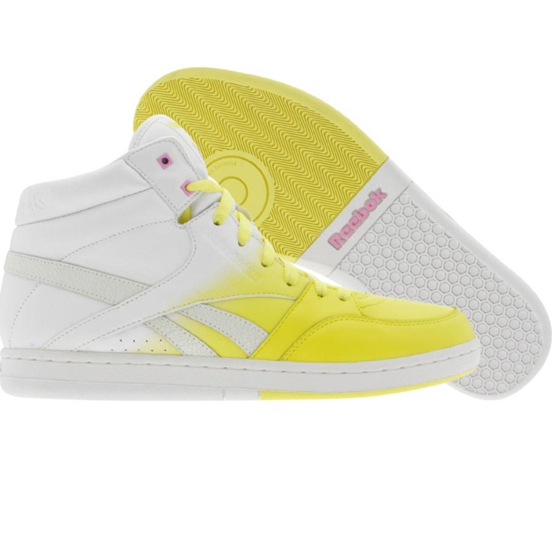 Reebok Womens Courtee Mid (yellow / white / neon blue / pink)