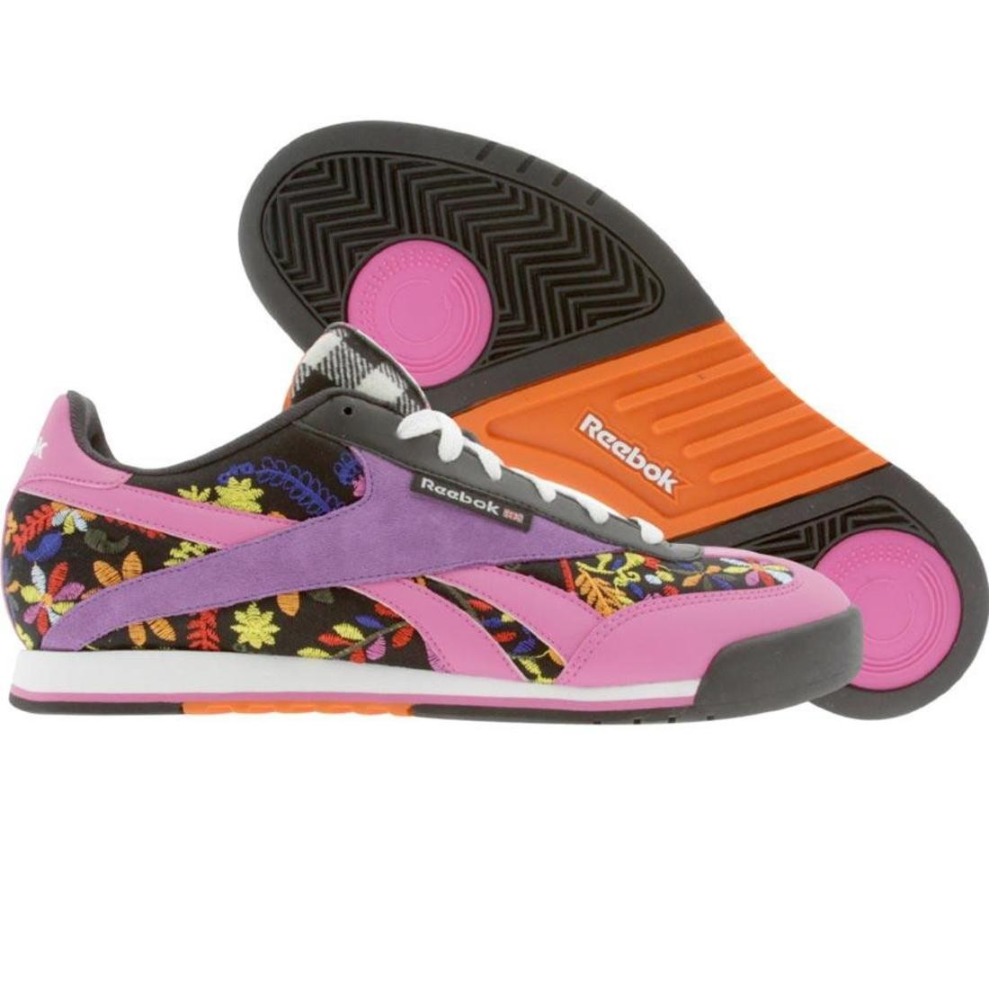 Reebok Womens CL Supercourt RMNT RBC TD (black / white / pink / purple / thistl)