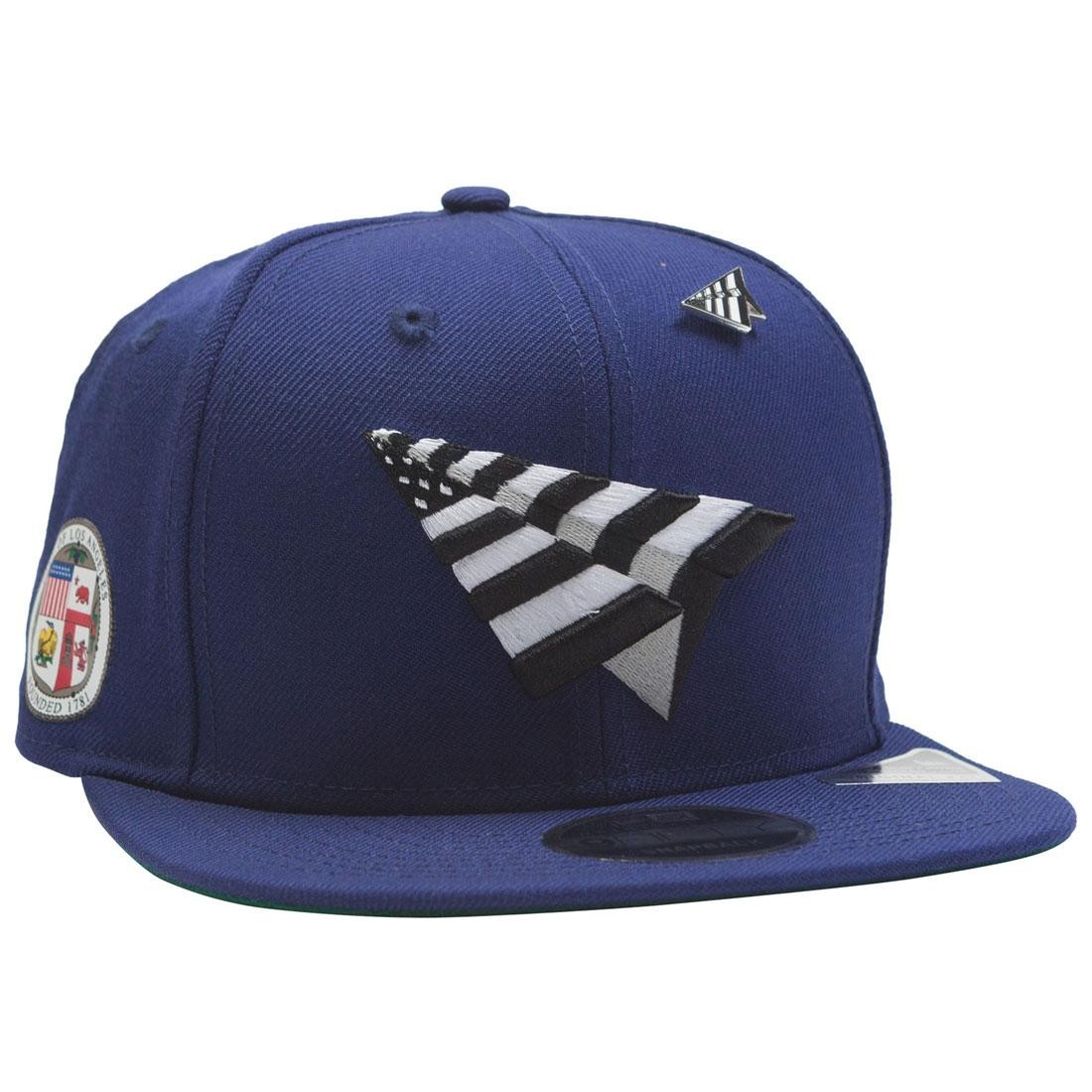 Paper Planes The Crown Snapback Cap - California Love with Pin (blue / royal)