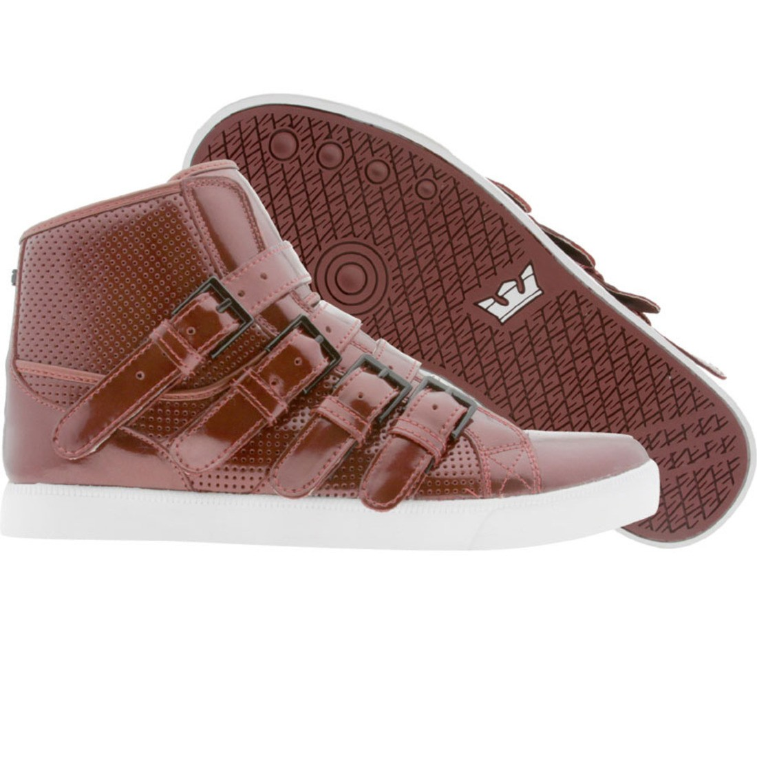 Supra Strapped NS (burgandy patent)