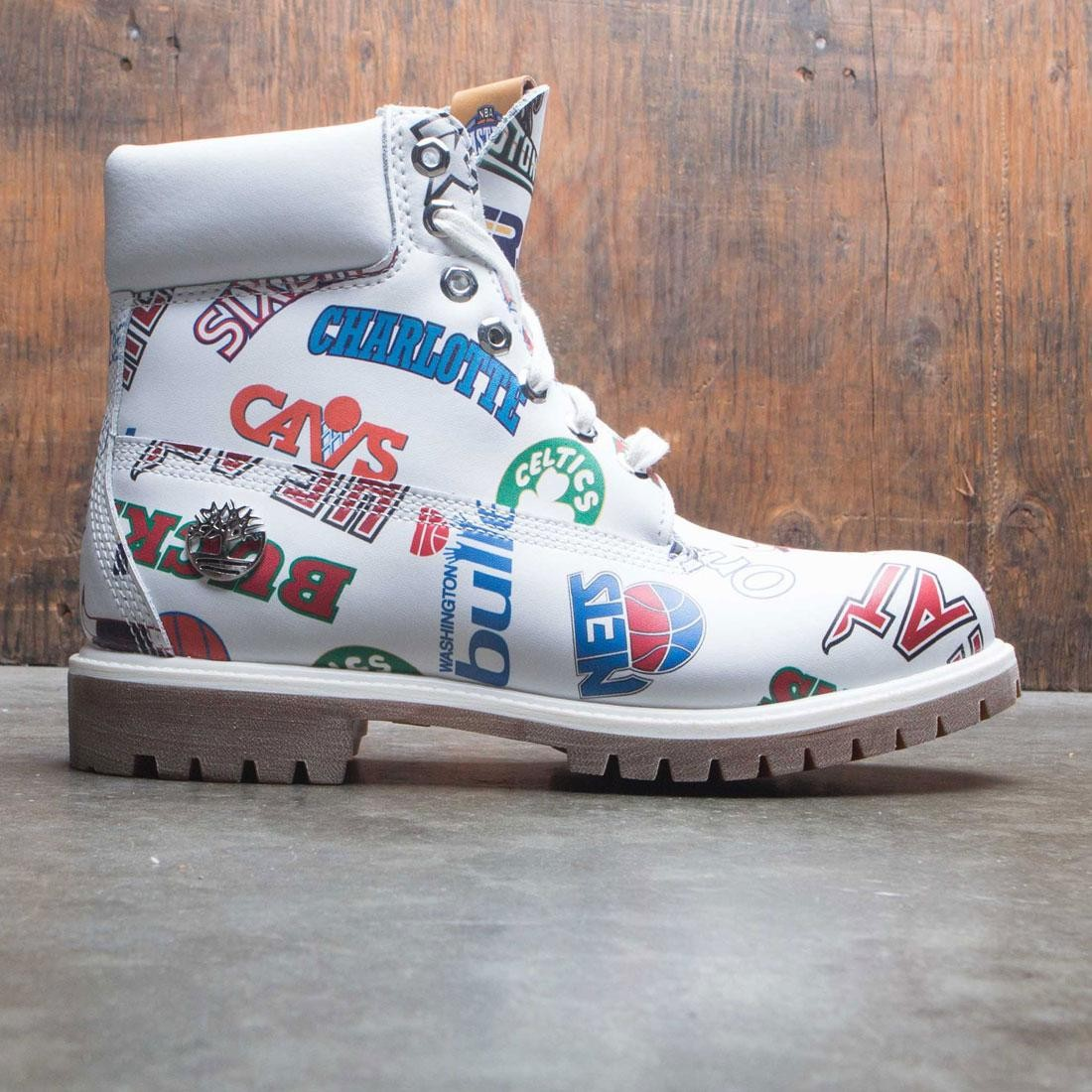 Timberland x Mitchell and Ness NBA Men 6 Inch Boot (white / action leather)