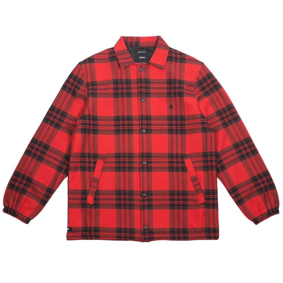 10 Deep Men Flannel Coaches Jacket (red)