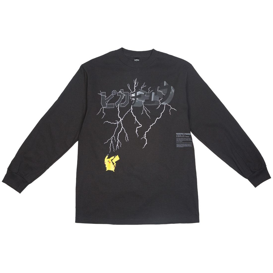 BAIT Exclusive 10 Deep x Pokemon Men Lightning Strike Long Sleeve Tee (black)