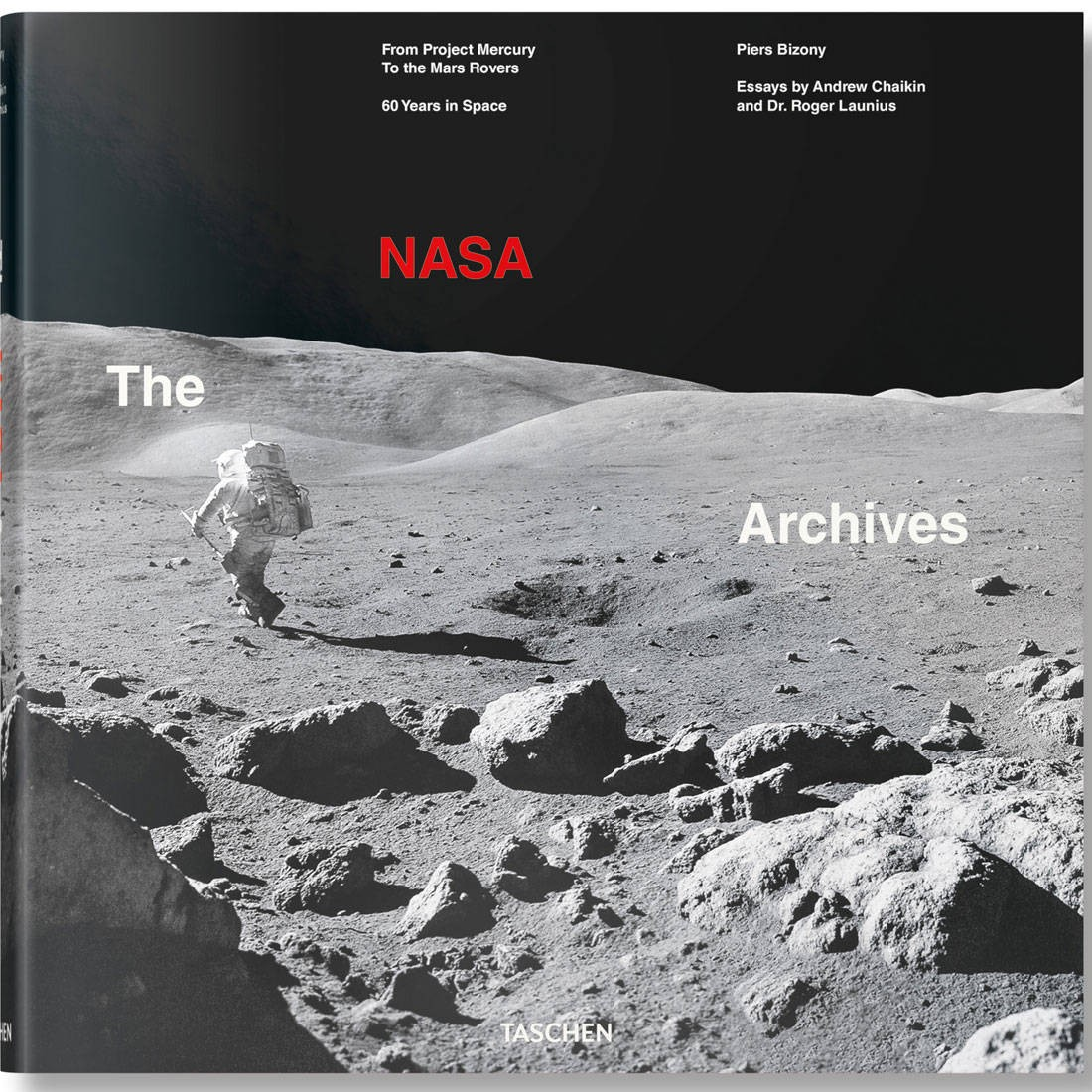 NASA Archives 60 Years In Space Hardcover Book (black)