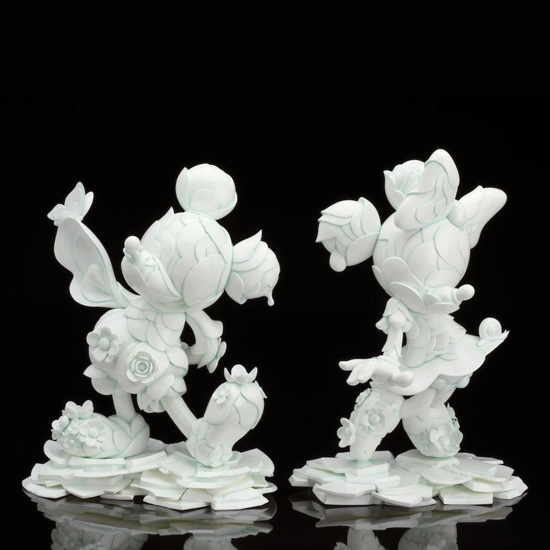 James Jean x Good Smile Company Mickey Mouse And Minnie Mouse 90th Anniversary Edition Sculpture Set (white)
