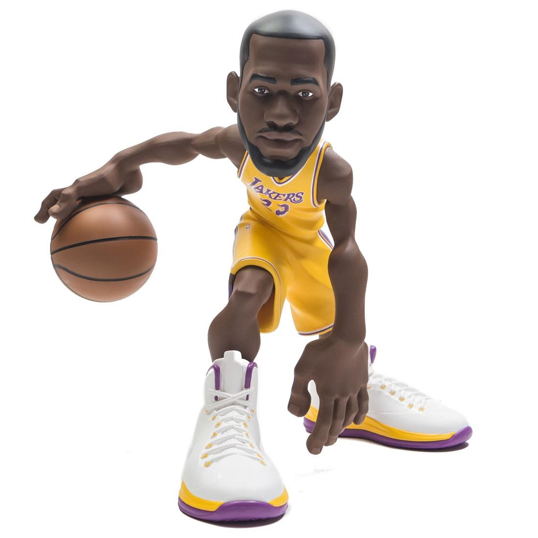 IconAI Small Stars NBA 2018-2019 Lebron James 11 Inch Figure - Lakers Gold Jersey (gold)