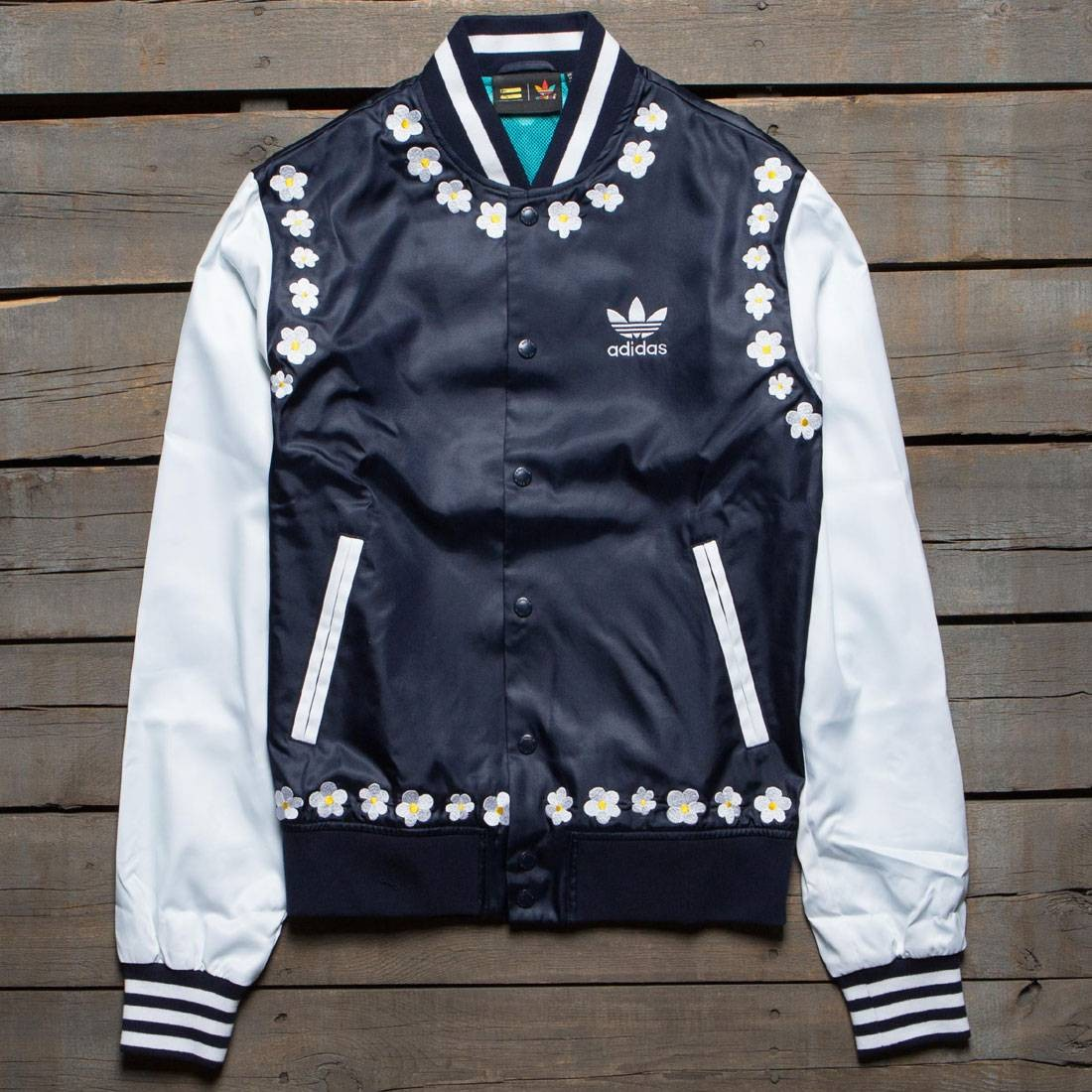 Adidas x Pharrell Williams Men Daisy Varsity Jacket (navy / legend ink / white)