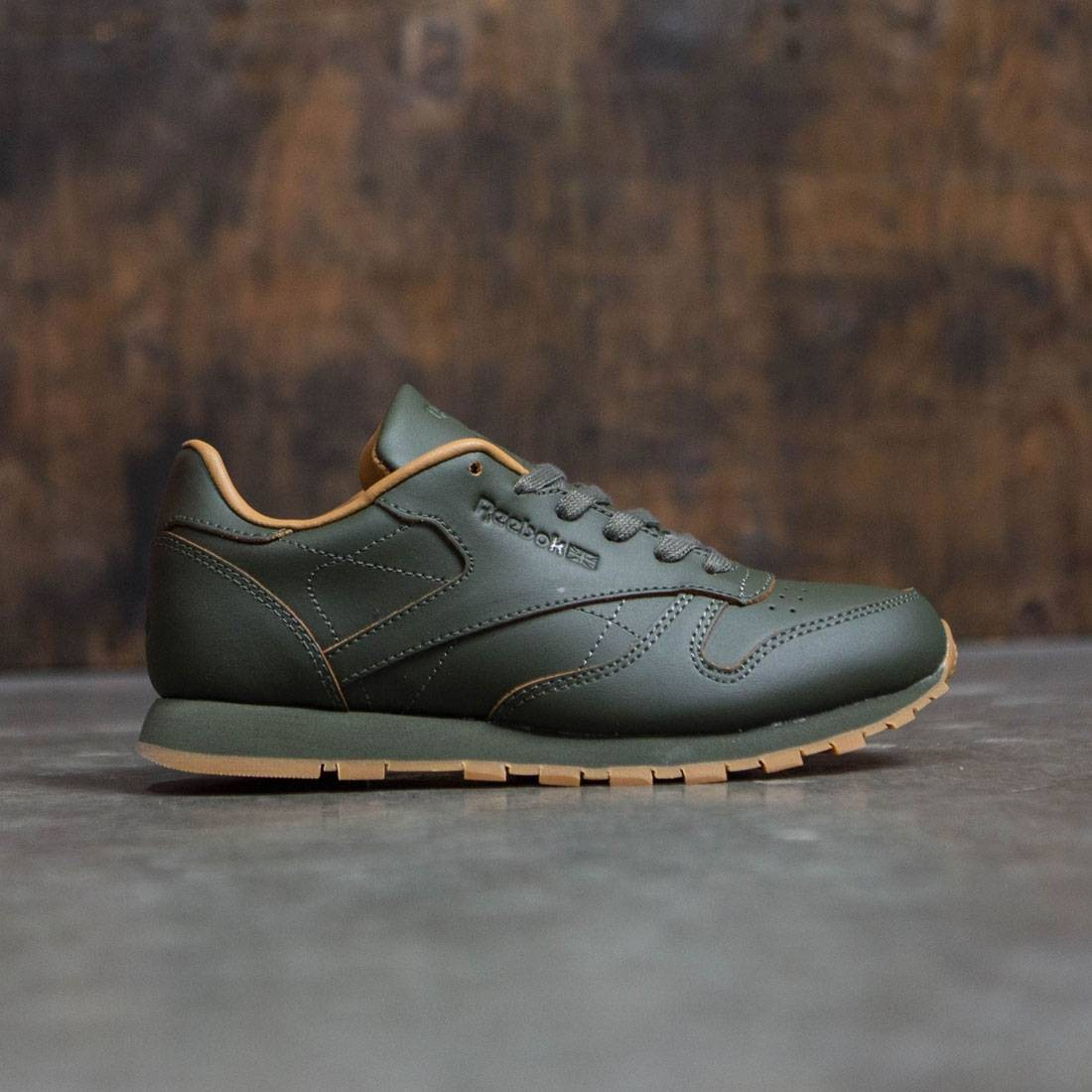df65c5df9ae Reebok x Kendrick Lamar Big Kids Classic Leather olive olive night gum