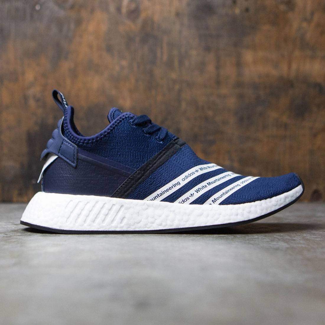 Adidas Men White Mountaineering NMD R2 Primeknit navy collegiate navy  footwear white d108aefb3949