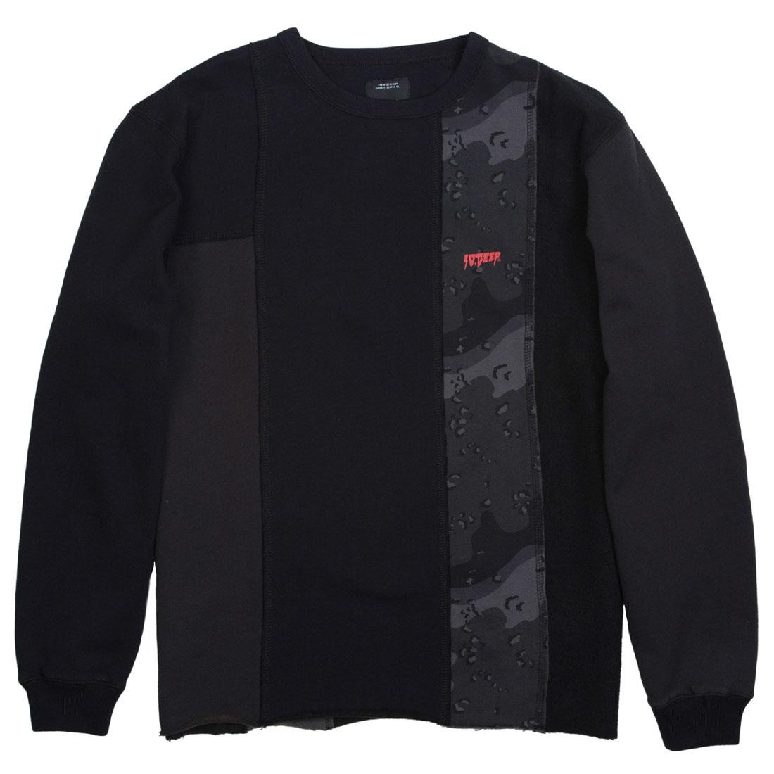10 Deep Men Unification Chopped Crewneck Sweater (black)