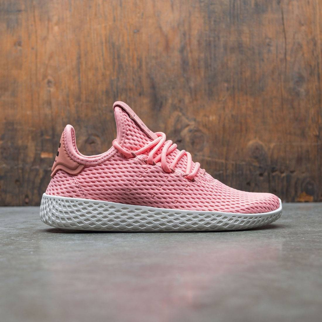 Adidas x Pharrell Williams Big Kids Tennis HU J (pink / tactile rose / footwear white)