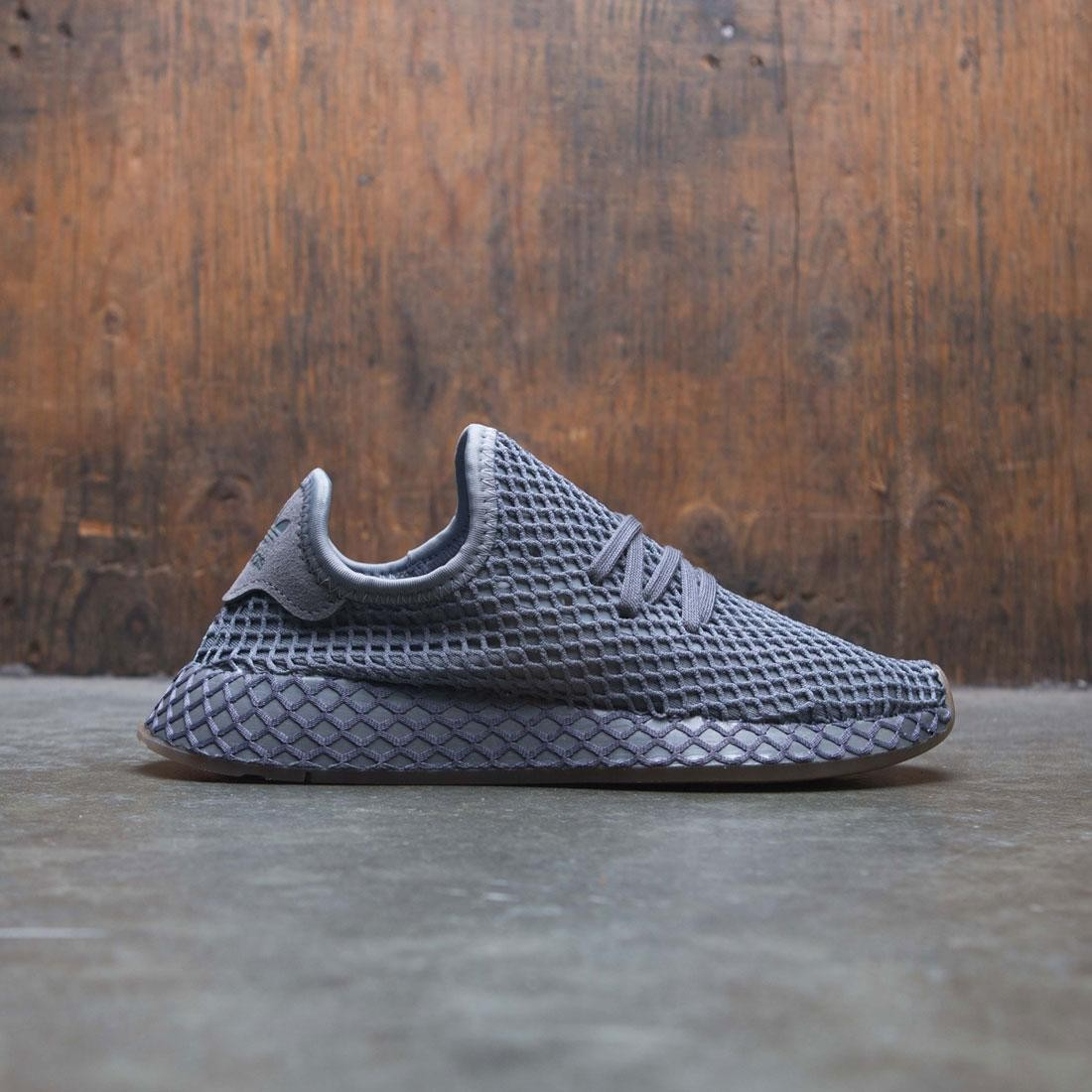 Adidas Big Kids Deerupt Runner J (gray / grey four / gum)