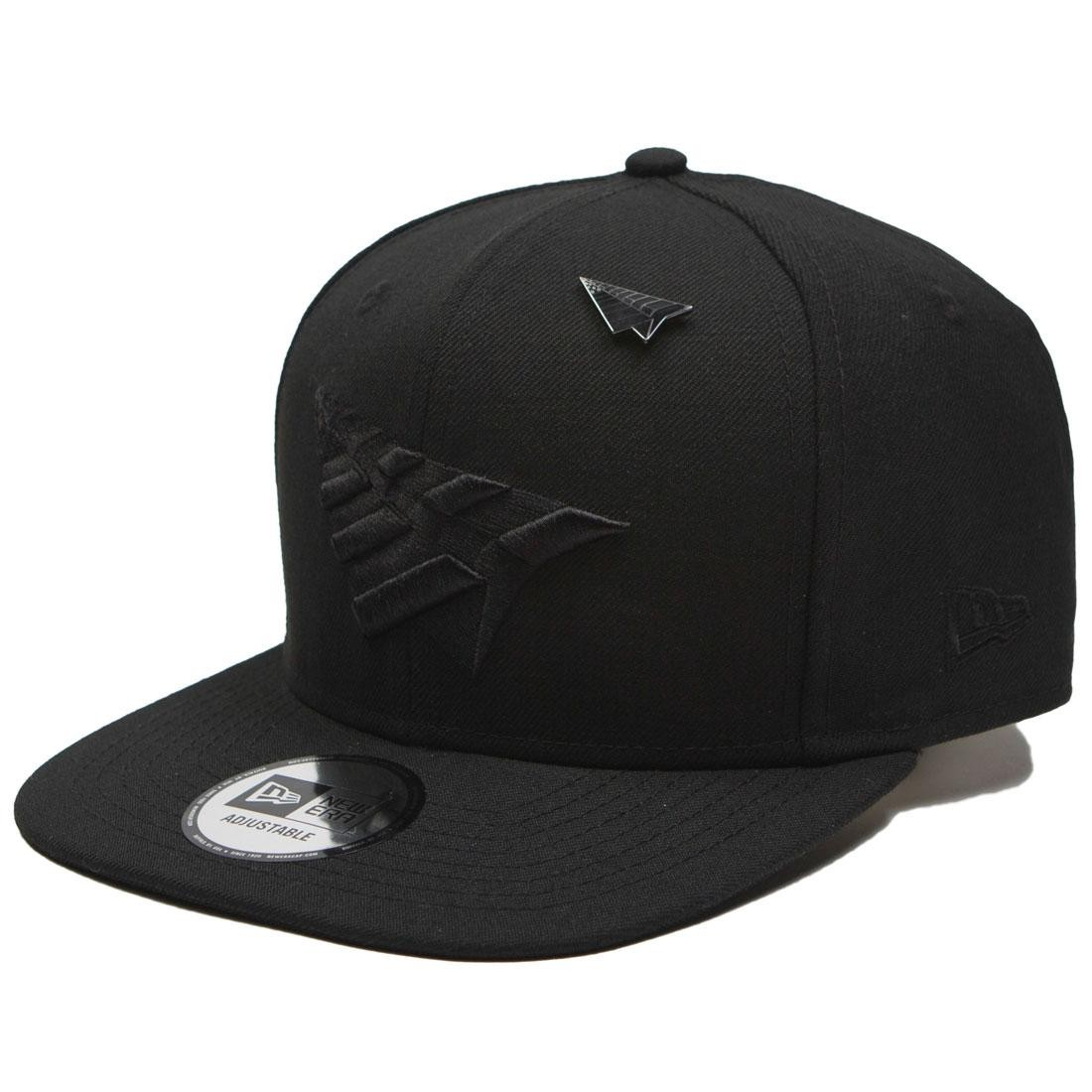 Paper Planes The Crown Snapback Cap With Pin - Blackout (black / black)