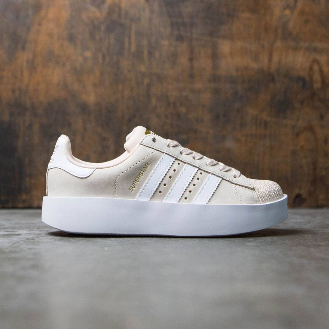 Adidas Women Superstar Bold W (beige / linen / footwear white / gold metallic)