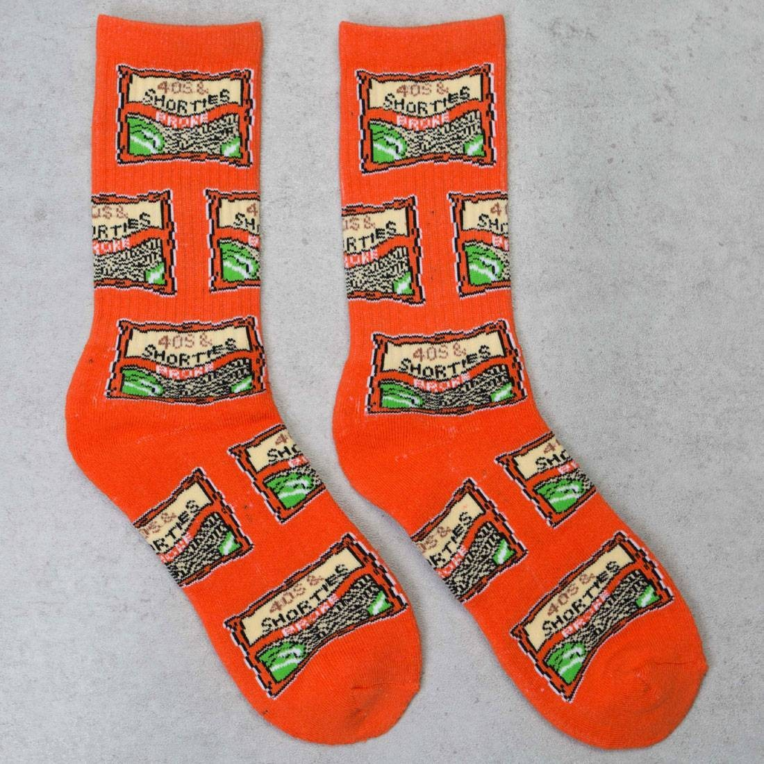40s and Shorties Men Ramen Socks (orange)