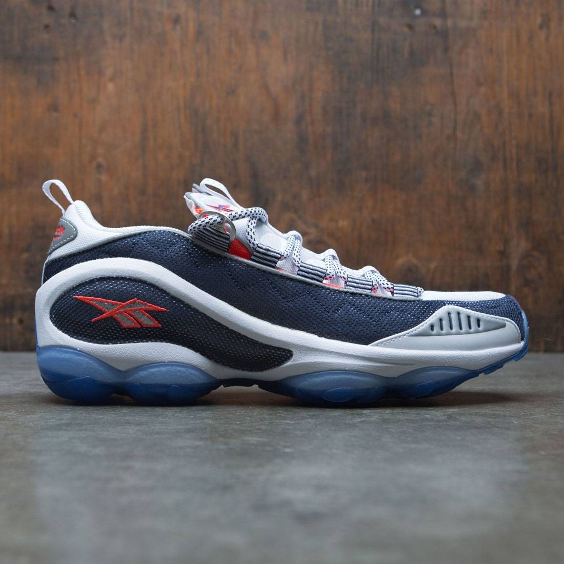 Reebok Men DMX Run 10 (white / infinite blue / neon cherry / silver)