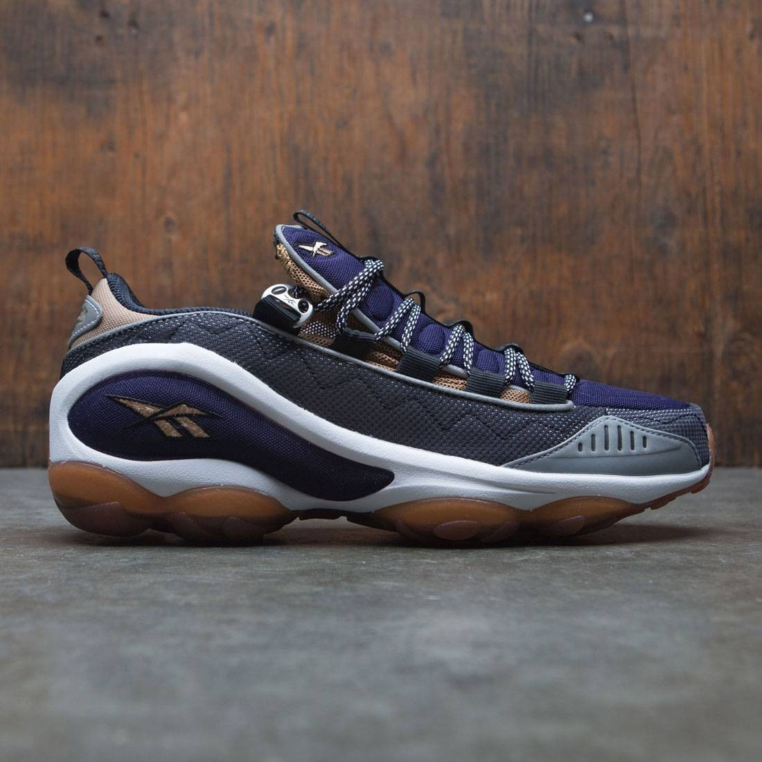 Reebok Men DMX Run 10 (black / white / tweed brown / thunder blue / silver)
