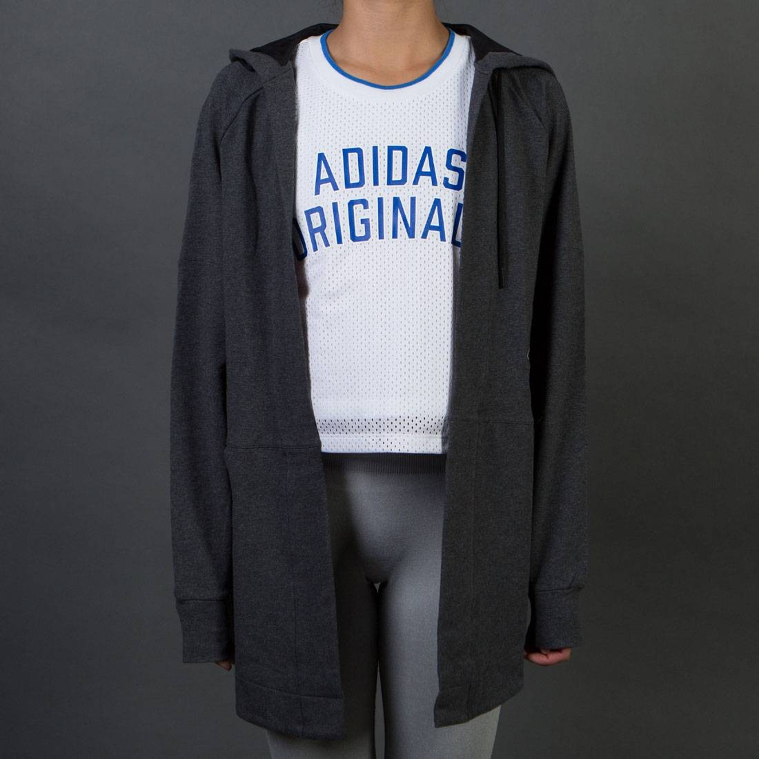 Adidas Women Comfort Cover-Up Top (gray / dark grey heather)