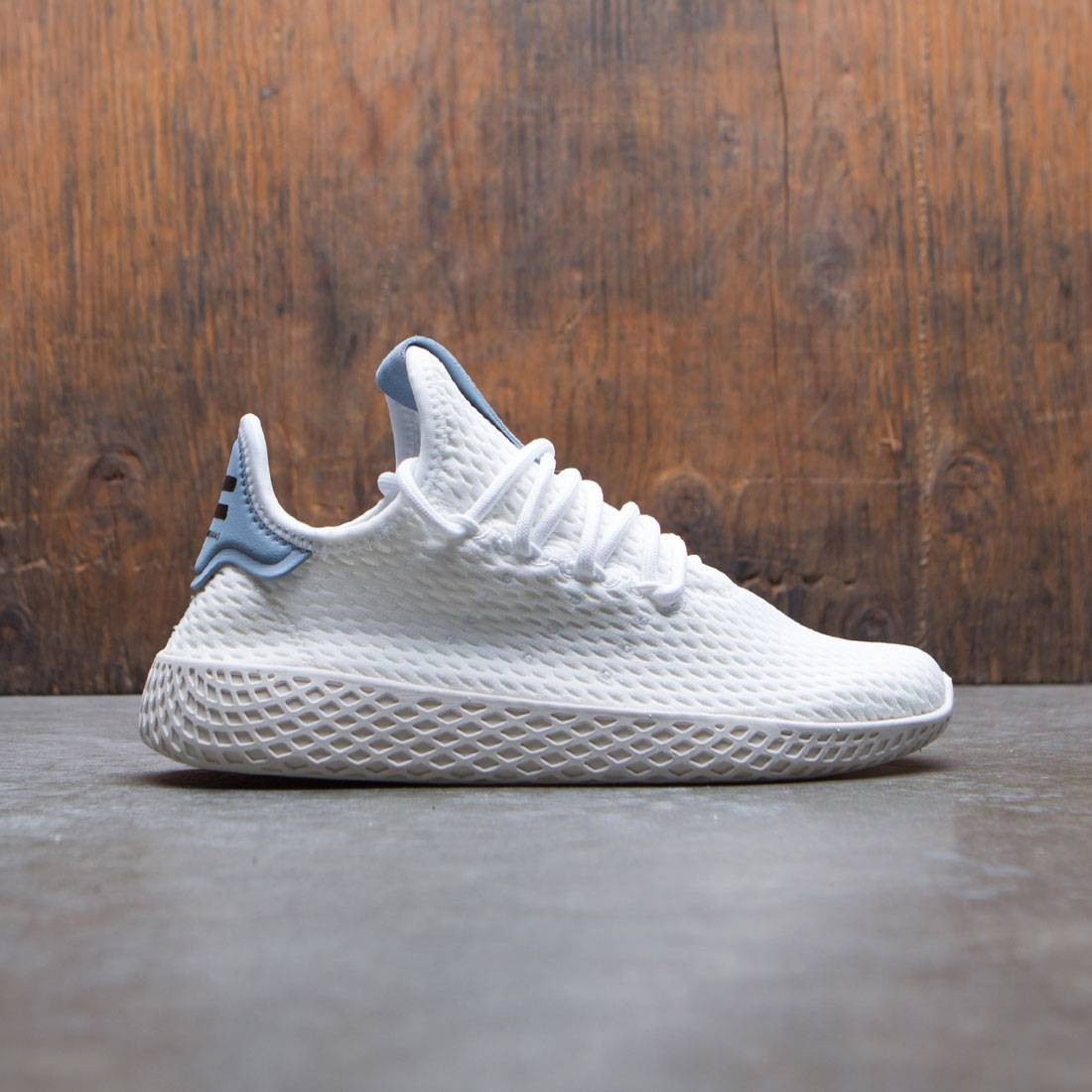 Adidas x Pharrell Williams Big Kids Tennis HU J (white / footwear white / tactile blue)