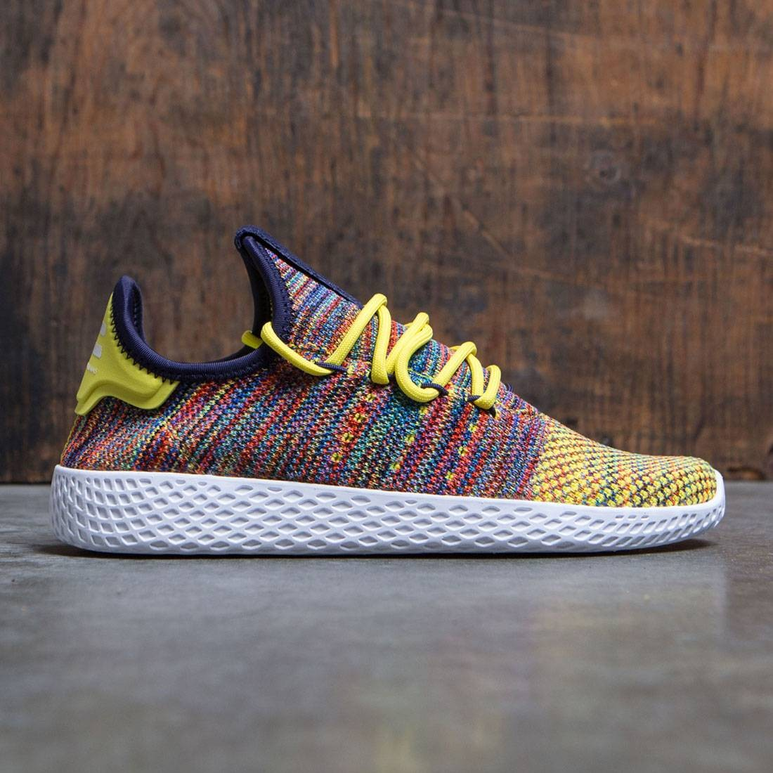 0e220269012c6 Adidas x Pharrell Williams Men Tennis HU yellow noble ink semi frozen  yellow footwear white