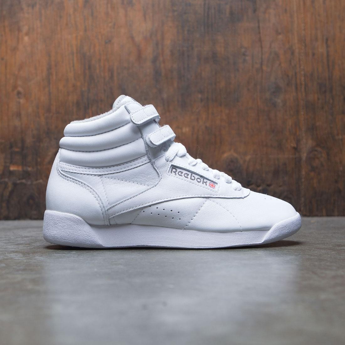 Reebok Women Freestyle Hi (white / carbon / red / grey)