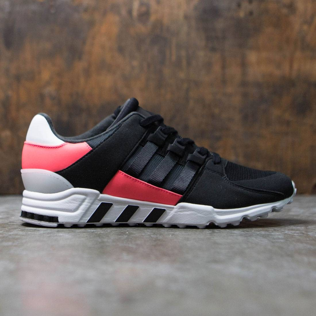 huge discount a3503 04936 Adidas Men EQT Support RF black core black turbo red