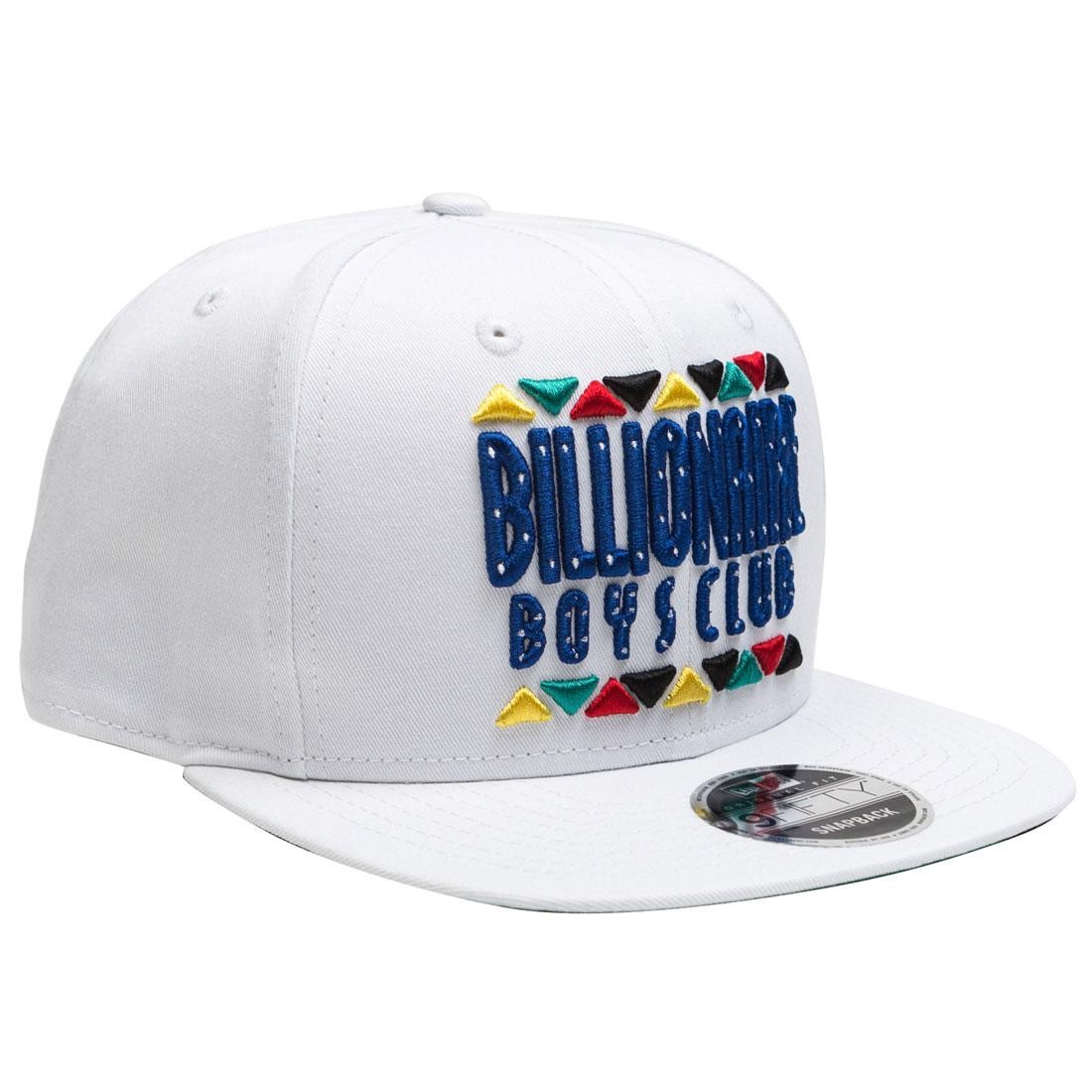 Billionaire Boys Club Block Snapback Cap (white)