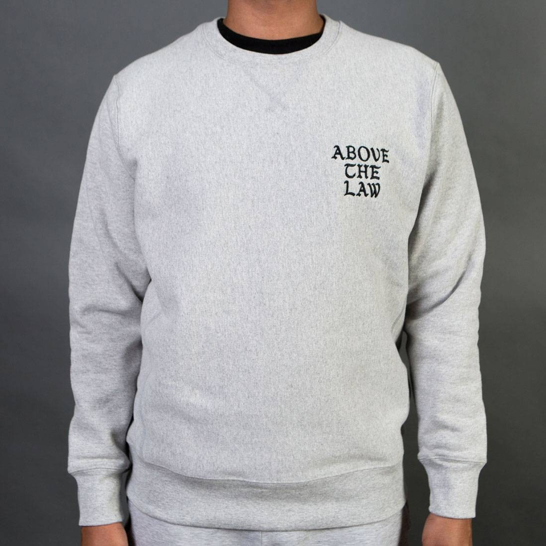 Acapulco Gold Men Above The Law Crewneck Sweater (gray)