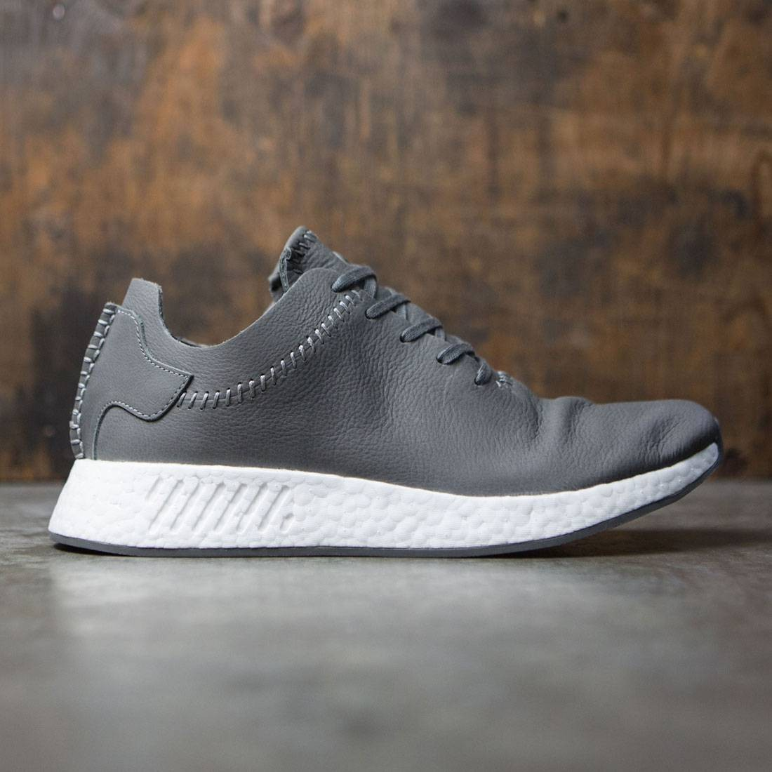 Adidas x Wings + Horns Men NMD R2 Leather (gray / ash / off white)
