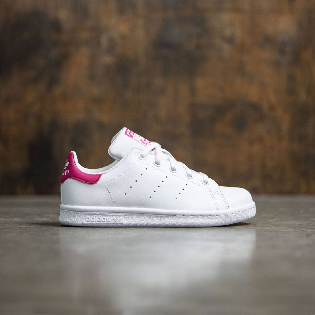 Adidas Little Kids Stan Smith (white / footwear white / bold pink)