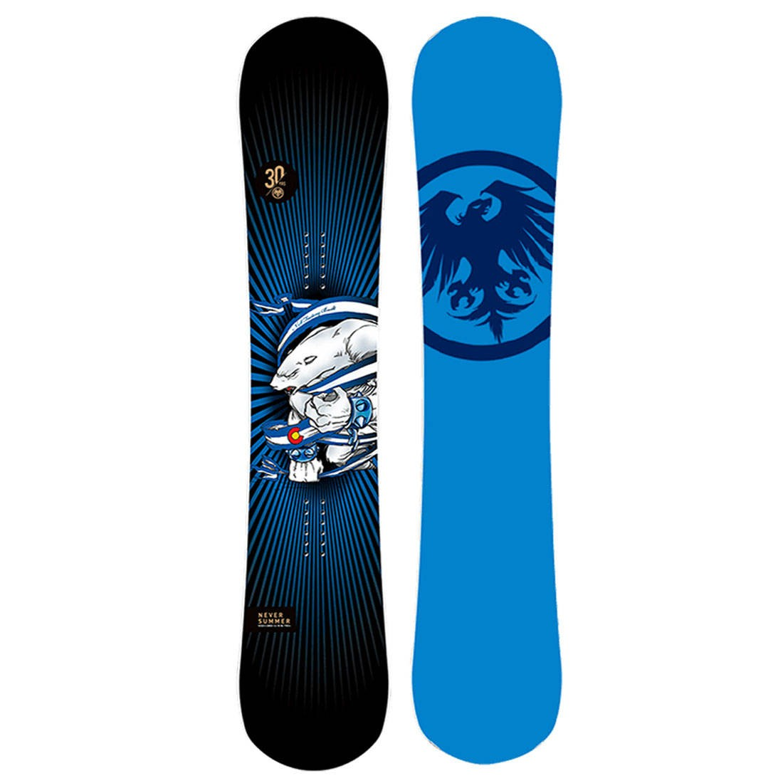 Never Summer 2021 Women Proto Synthesis 30th Anniversary Limited Edition Snowboard (multi)