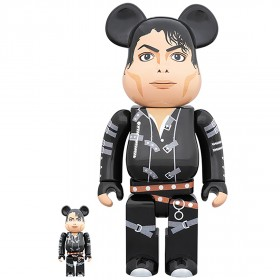 PREORDER - Medicom Michael Jackson BAD 100% 400% Bearbrick Figure Set (black)